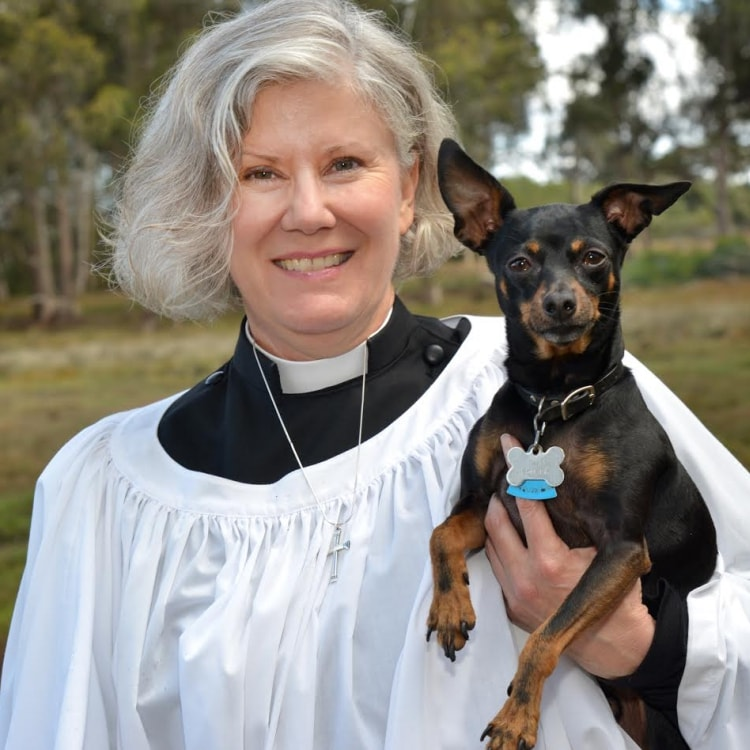 The Rev. Amber Sturgess and her dog Ivan