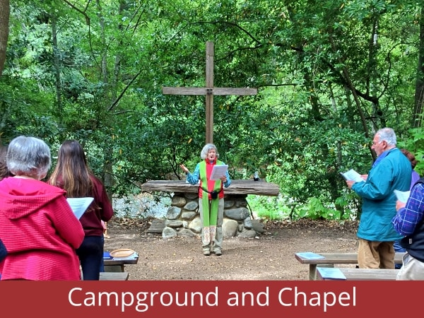 Outdoor chapel and campground in Carmel, CA