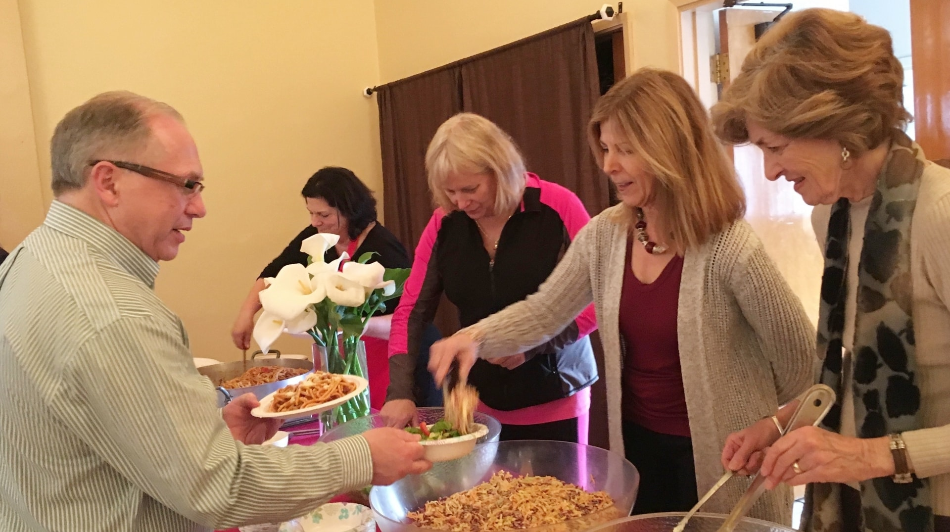 Hospitality in action at All Saints' Episcopal Church in Carmel, CA