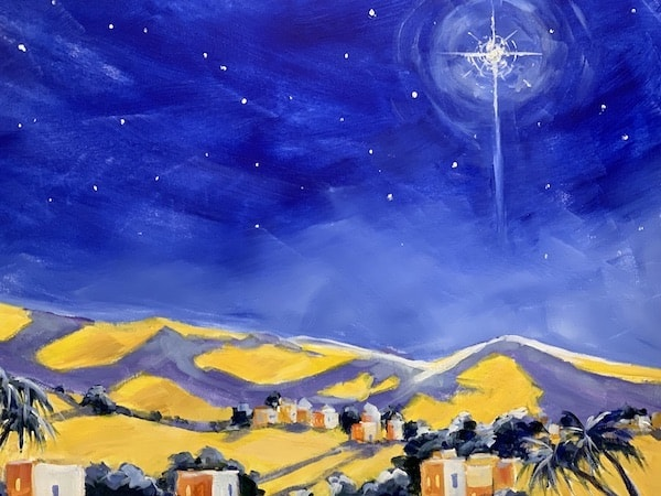 Bethlehem Star Banner Art All Saints Carmel