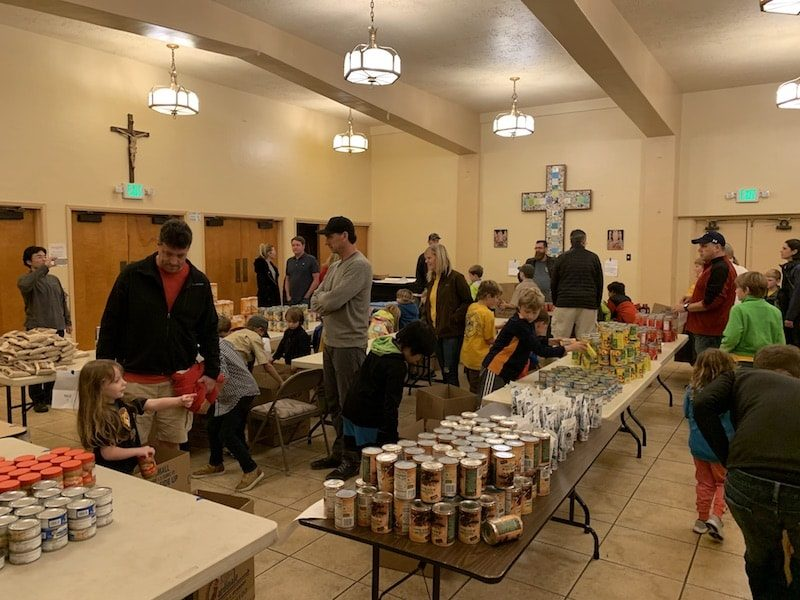 Packing Christmas Food Boxes All Saints Church Carmel