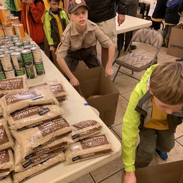 Scouts Pack Christmas Food Boxes All Saints Church Carmel