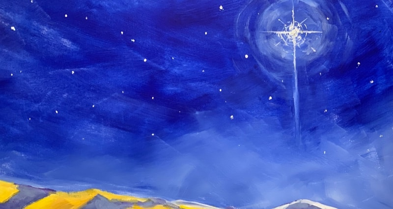 Bethlehem Star Art for Christmas Eve service All Saints' Carmel