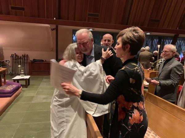 New Rector Congratulated All Saints' Carmel CA