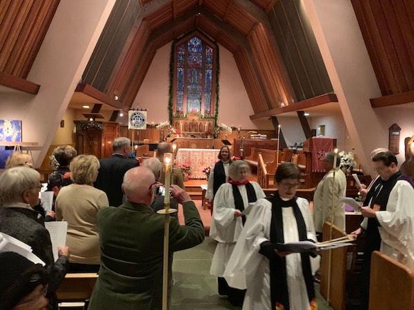 Celebrating New Rector All Saints' Carmel CA