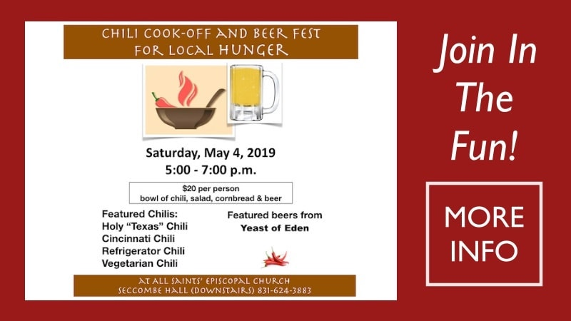 Chili Cook-Off and Beer Fest Promo All Saints' Church Carmel California