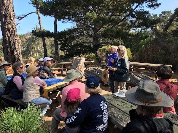 Docent Stella Pt Pobos Pilgrimage All Saints' Church Carmel California